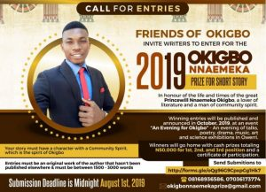 2019 Okigbo Nnaemeka Prize For Short Story